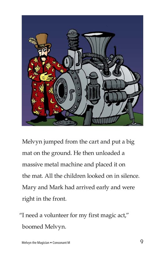 Book Preview For Melvyn the Magician Page 9