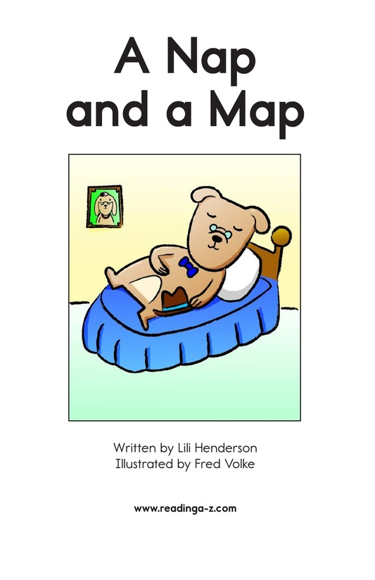 Book Preview For A Nap and a Map Page 2