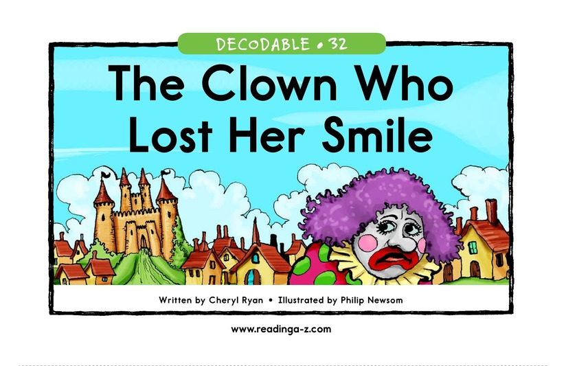 Book Preview For The Clown Who Lost Her Smile Page 1