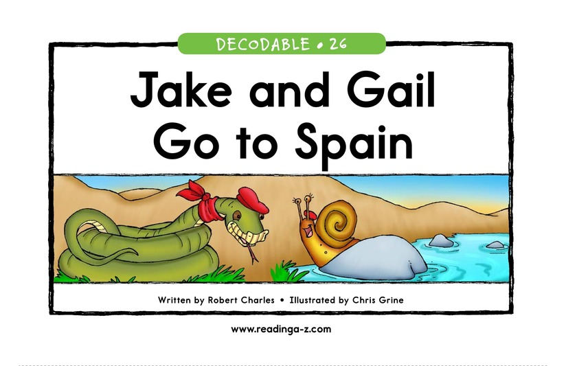 Book Preview For Jake and Gail Go to Spain Page 1