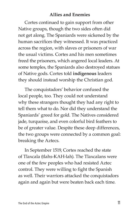 Book Preview For The End of the Aztec Empire Page 11