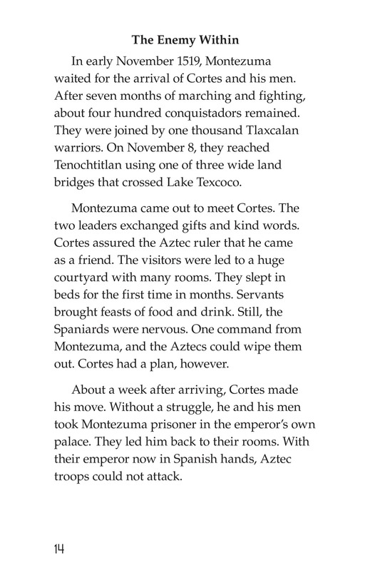 Book Preview For The End of the Aztec Empire Page 14