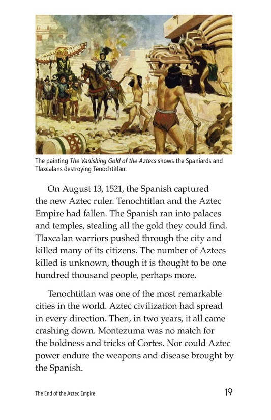 Book Preview For The End of the Aztec Empire Page 19