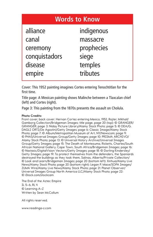 Book Preview For The End of the Aztec Empire Page 2