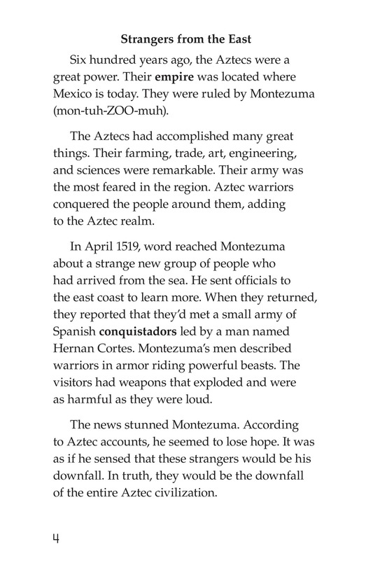 Book Preview For The End of the Aztec Empire Page 4