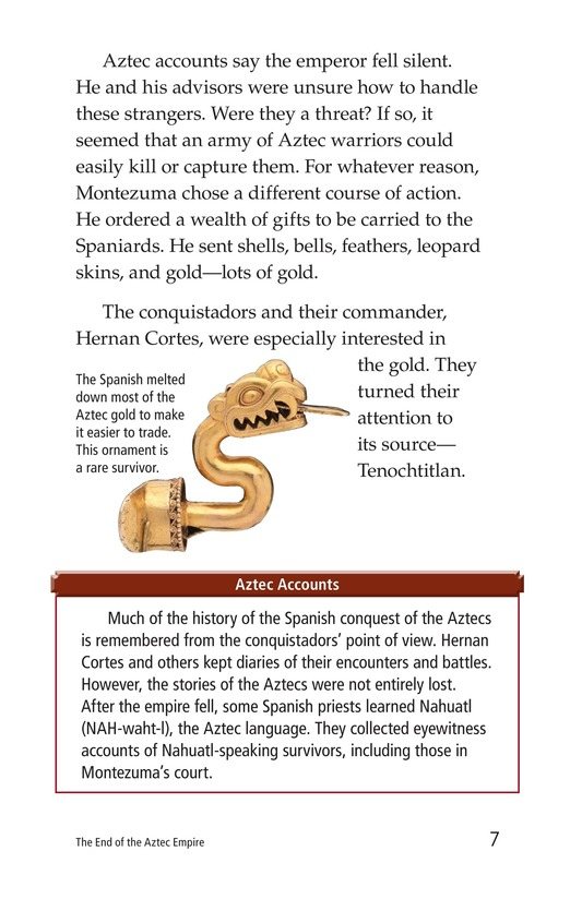 Book Preview For The End of the Aztec Empire Page 7