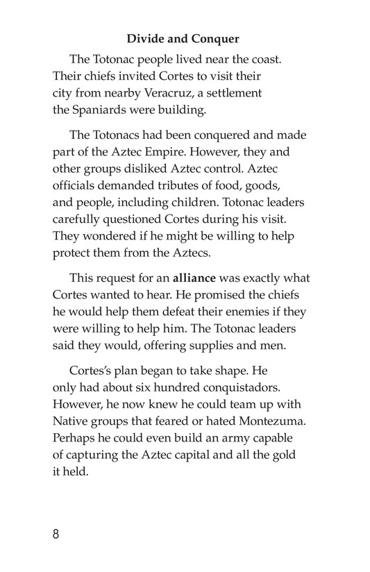 Book Preview For The End of the Aztec Empire Page 8