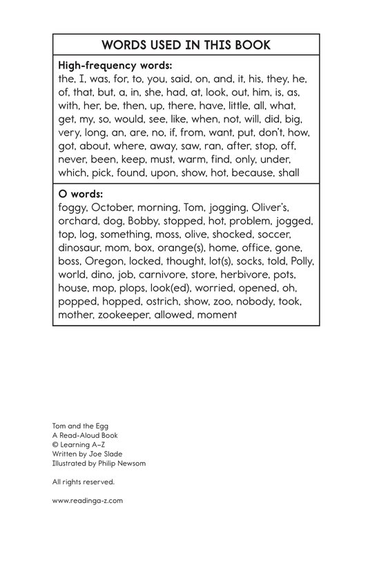 Book Preview For Tom and the Egg Page 15