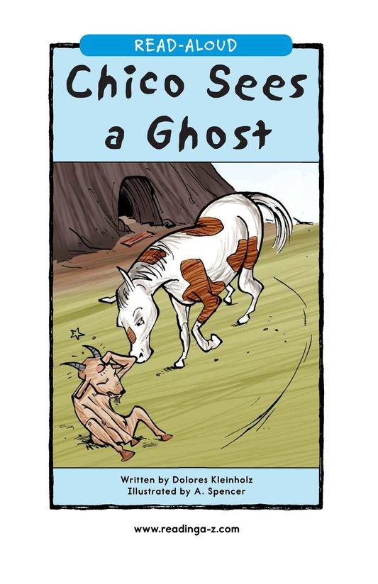 Book Preview For Chico Sees a Ghost Page 1