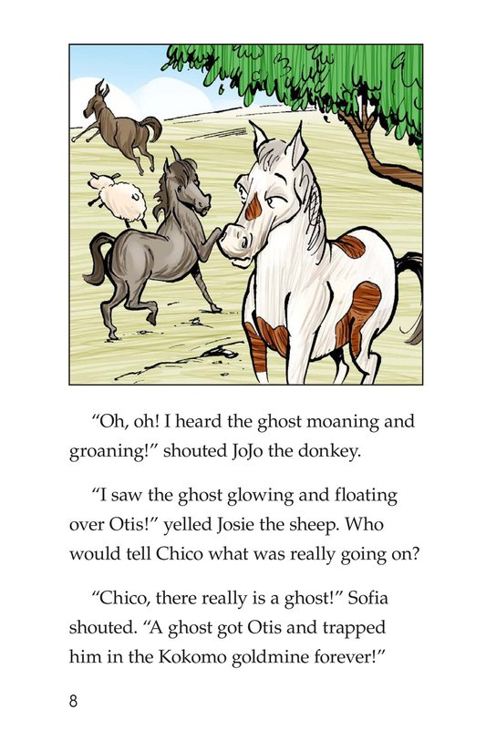 Book Preview For Chico Sees a Ghost Page 8