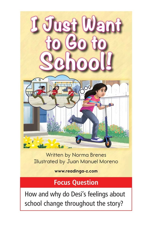 Book Preview For I Just Want to Go to School! Page 1