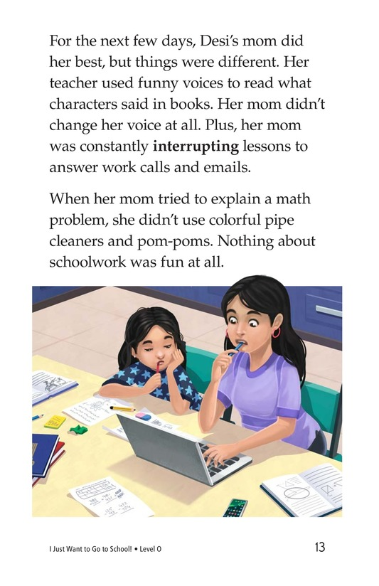 Book Preview For I Just Want to Go to School! Page 13