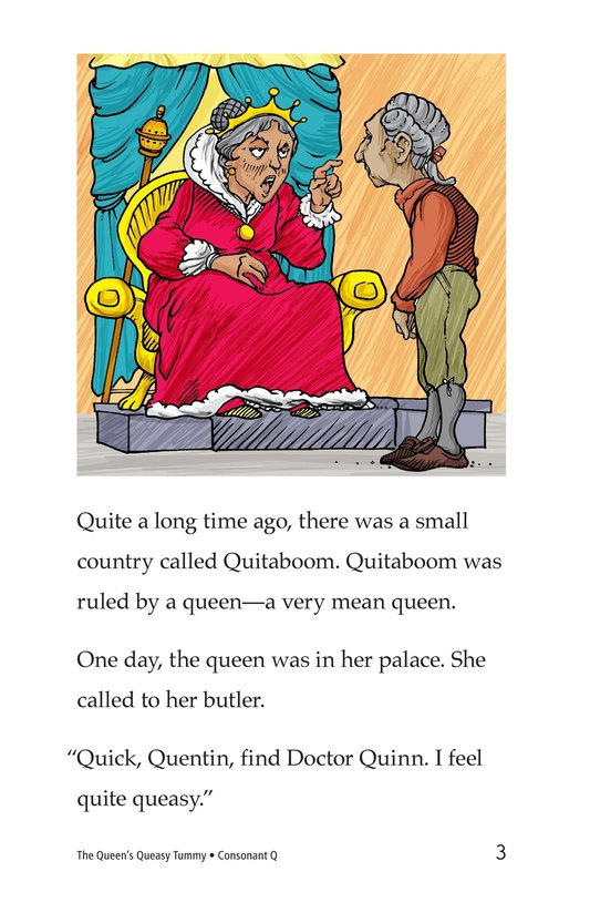 Book Preview For The Queen's Queasy Tummy Page 3