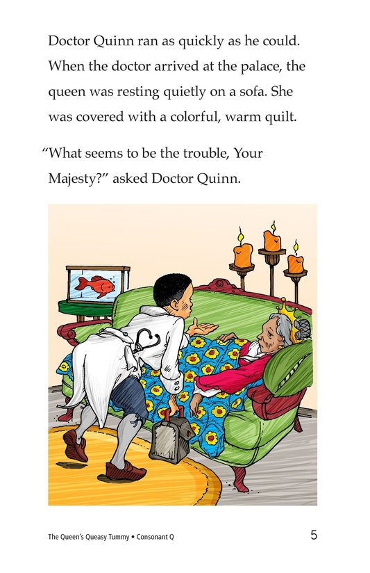 Book Preview For The Queen's Queasy Tummy Page 5