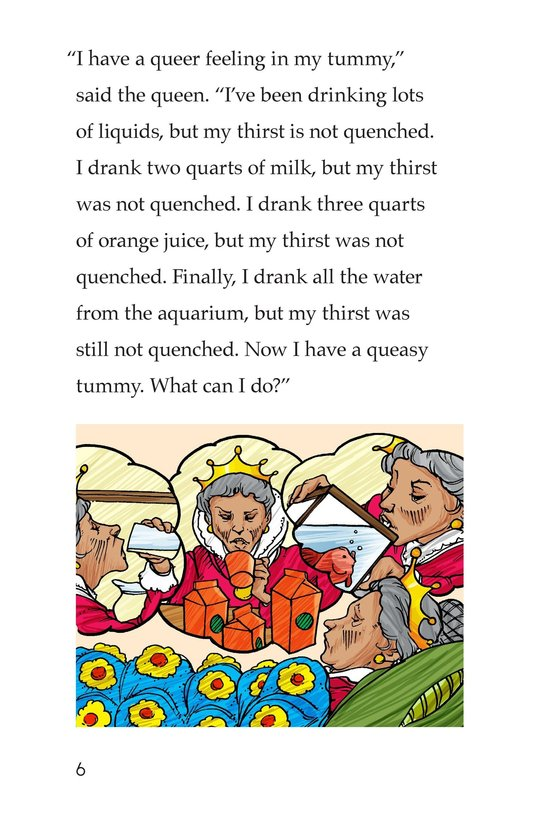 Book Preview For The Queen's Queasy Tummy Page 6