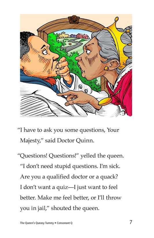 Book Preview For The Queen's Queasy Tummy Page 7