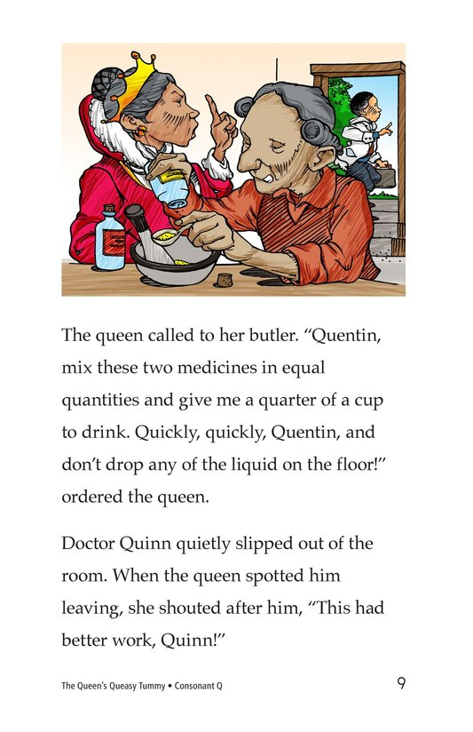 Book Preview For The Queen's Queasy Tummy Page 9