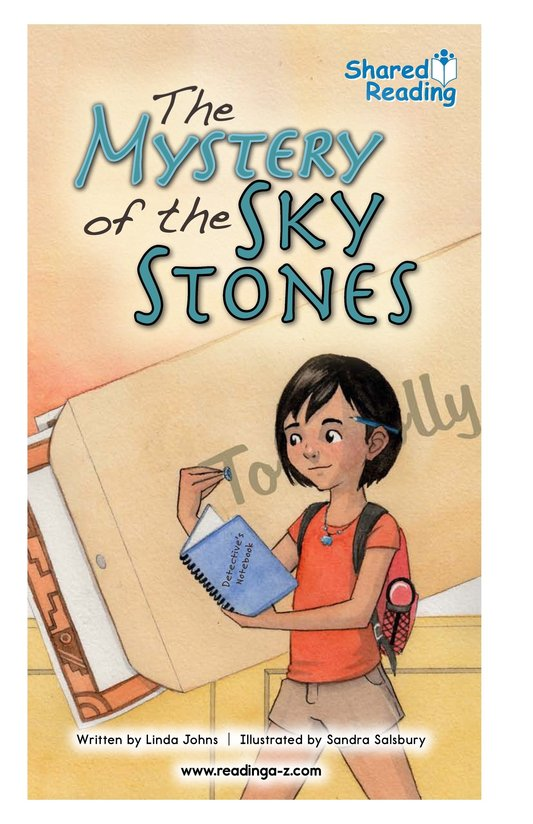 Book Preview For The Mystery of the Sky Stones - Read 2 Page 1