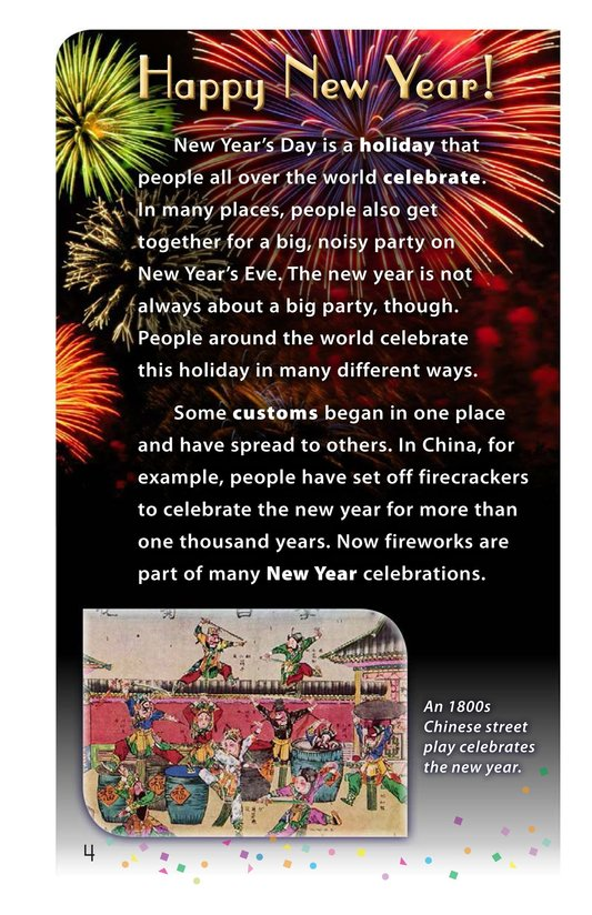 Book Preview For Happy New Year Around the World - Read 2 Page 4