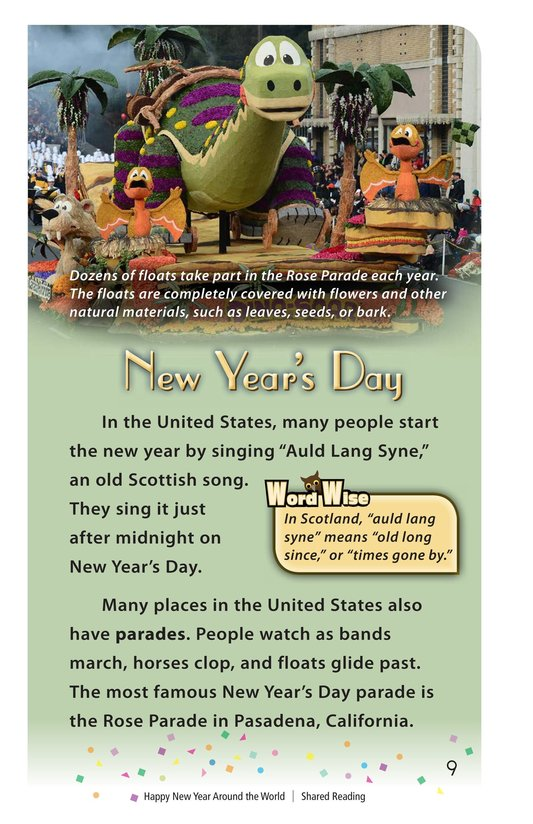 Book Preview For Happy New Year Around the World - Read 2 Page 9