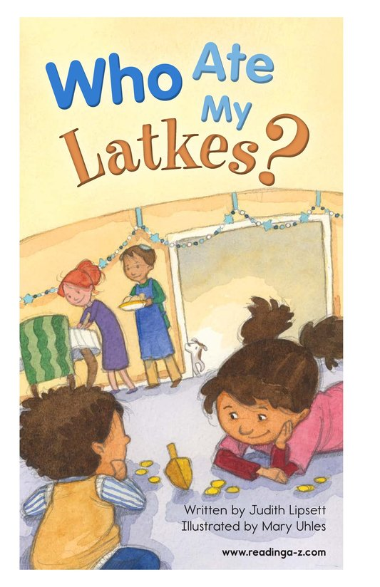 Book Preview For Who Ate My Latkes? - Read 2 Page 2