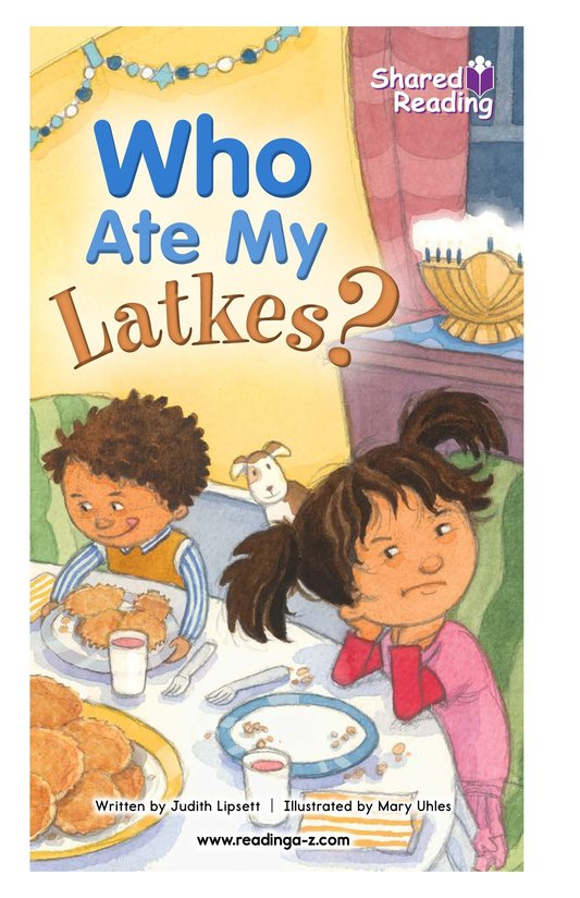 Book Preview For Who Ate My Latkes? - Read 3 Page 1