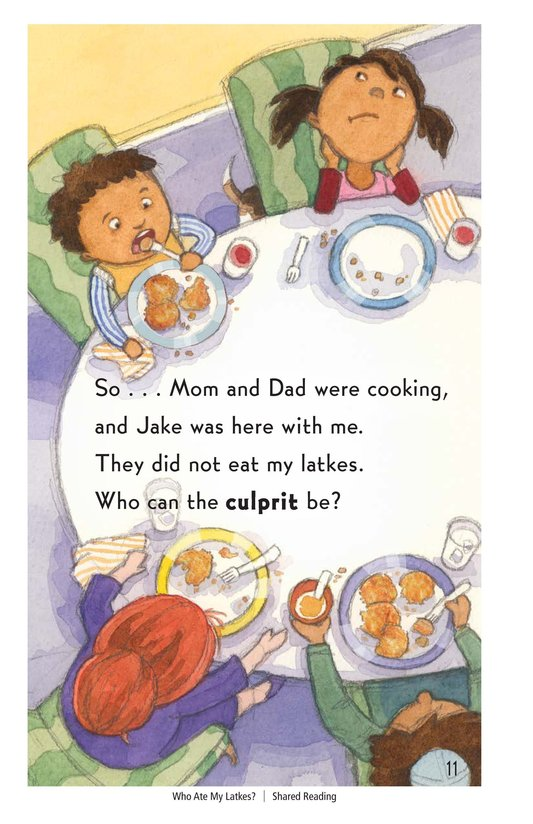 Book Preview For Who Ate My Latkes? - Read 3 Page 11