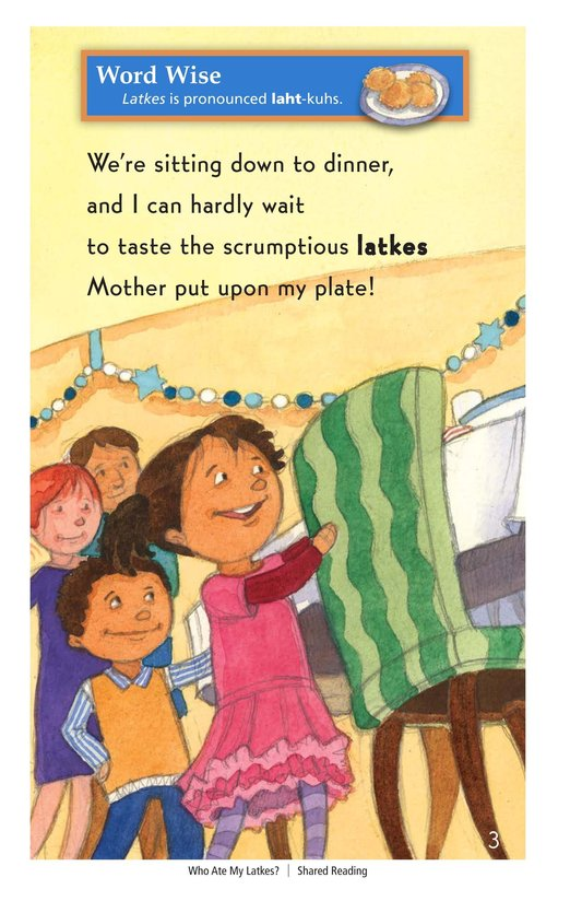 Book Preview For Who Ate My Latkes? - Read 3 Page 3
