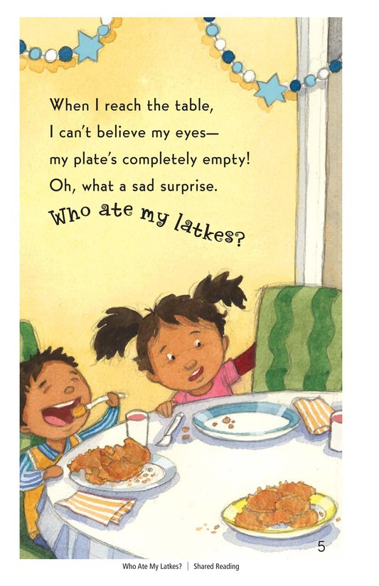 Book Preview For Who Ate My Latkes? - Read 3 Page 5