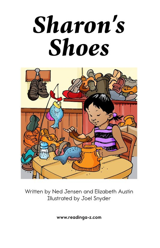 Book Preview For Sharon's Shoes Page 2