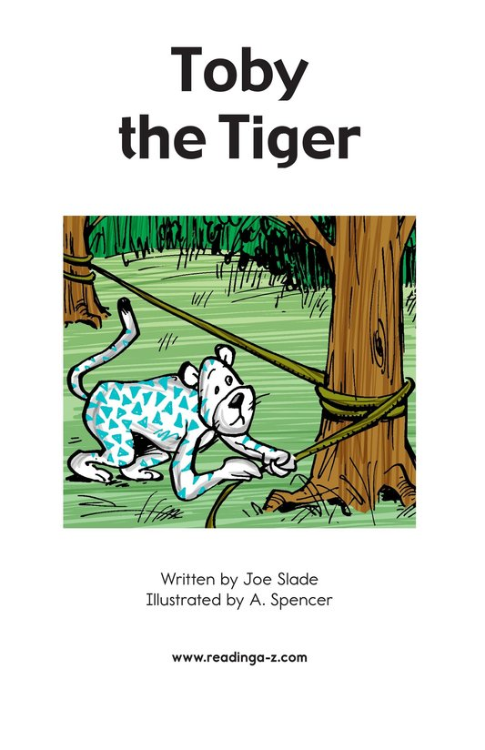 Book Preview For Toby the Tiger Page 2