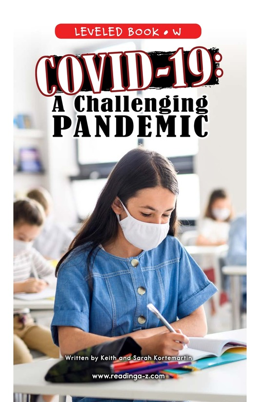 Book Preview For COVID-19: A Challenging Pandemic Page 0