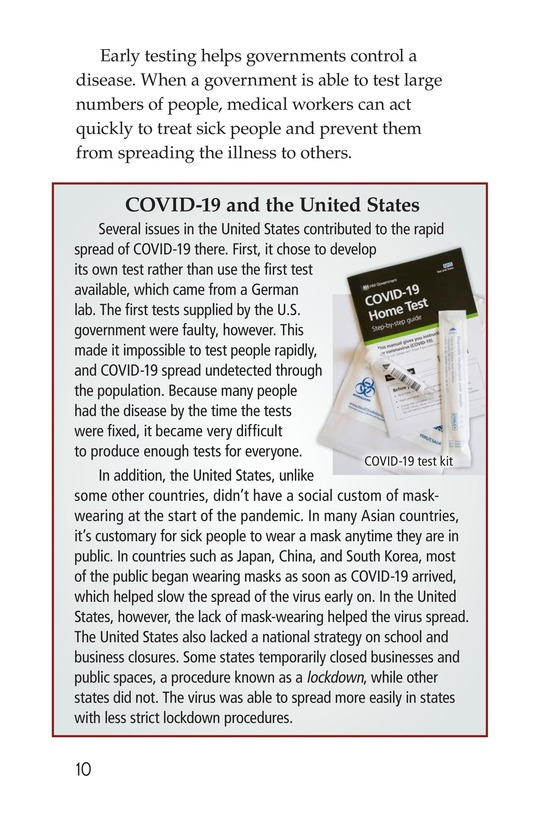 Book Preview For COVID-19: A Challenging Pandemic Page 10