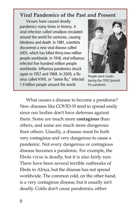 Book Preview For COVID-19: A Challenging Pandemic Page 6
