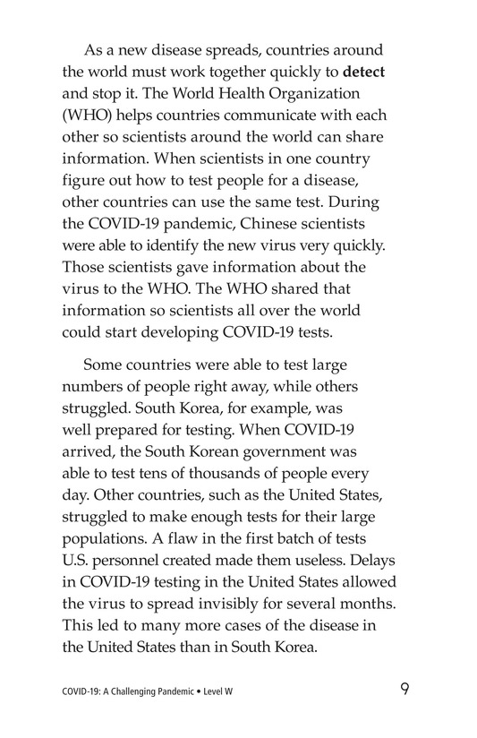 Book Preview For COVID-19: A Challenging Pandemic Page 9