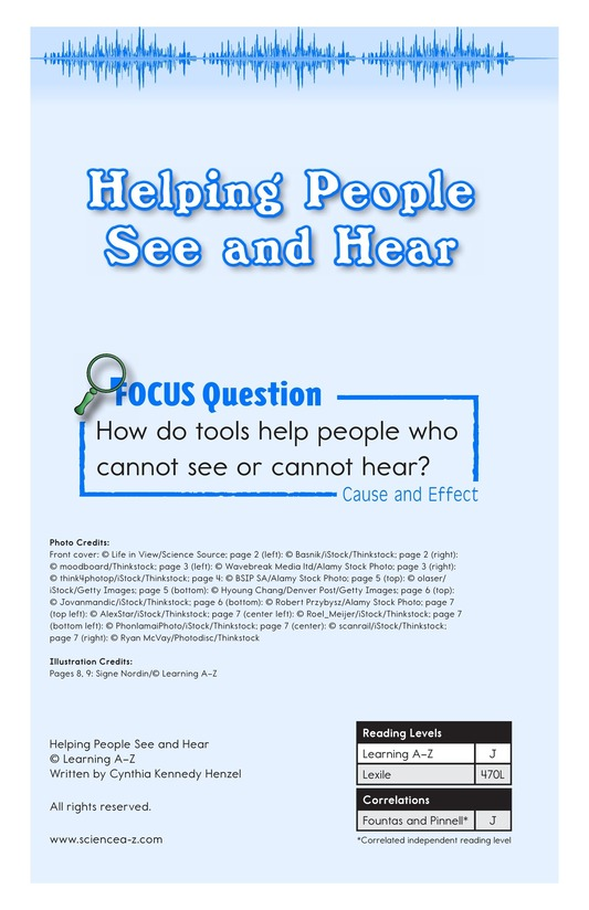 Book Preview For Helping People See and Hear Page 1