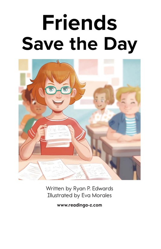 Book Preview For Friends Save the Day Page 1