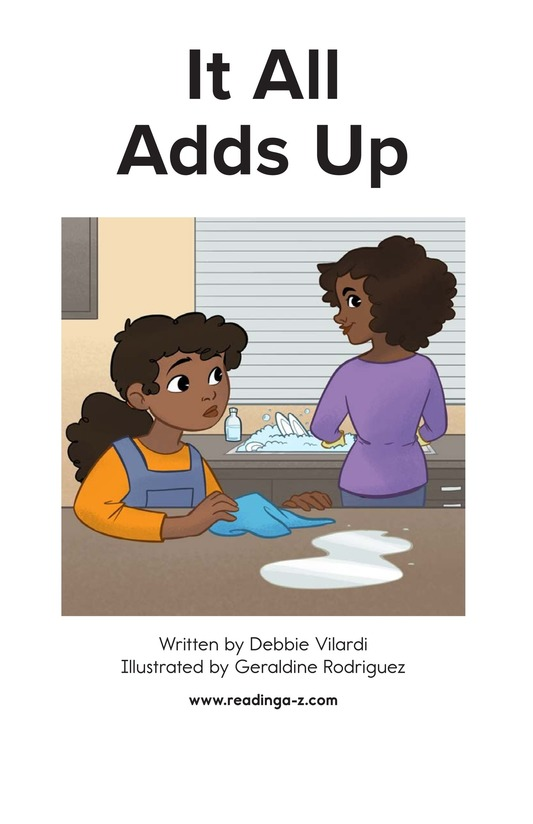 Book Preview For It All Adds Up Page 1