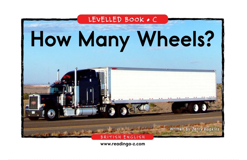 Book Preview For How Many Wheels? Page 1