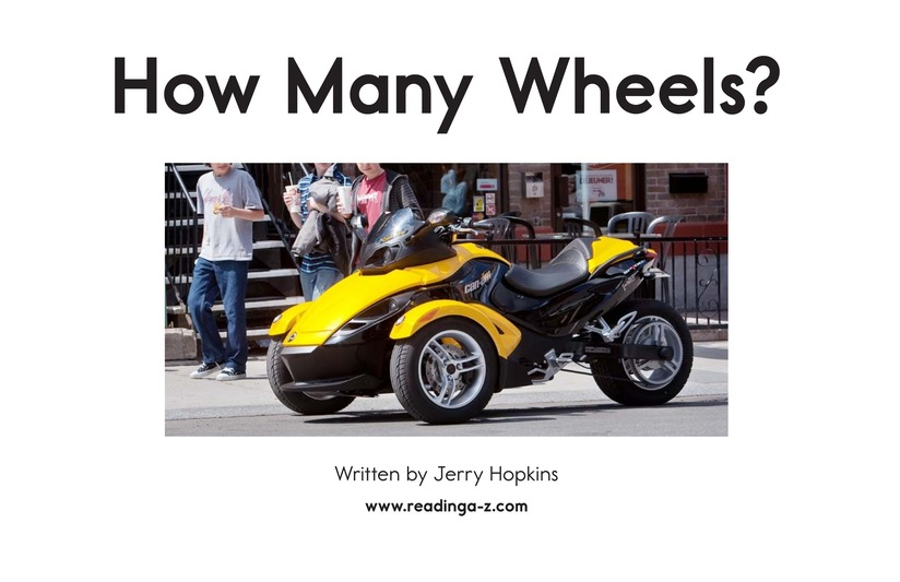 Book Preview For How Many Wheels? Page 2