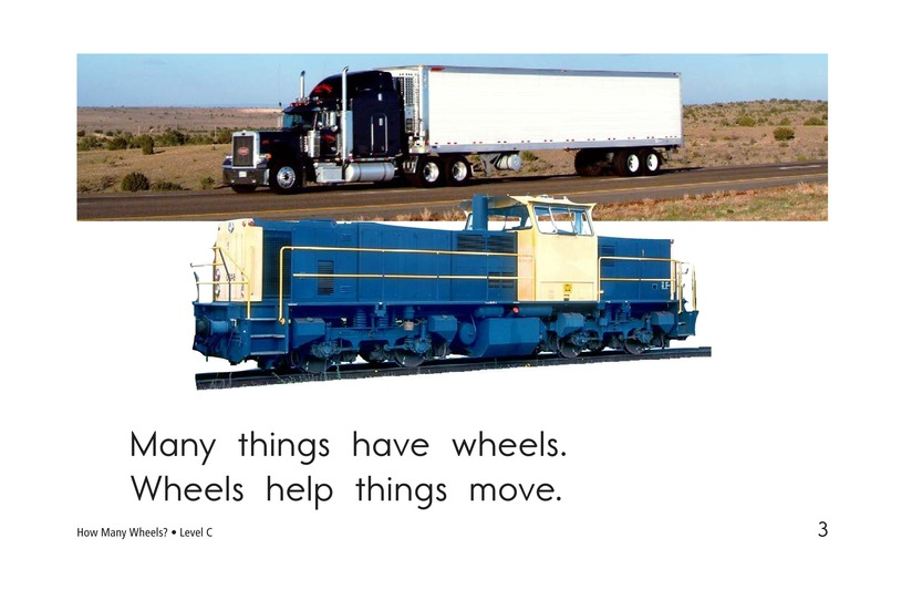 Book Preview For How Many Wheels? Page 3