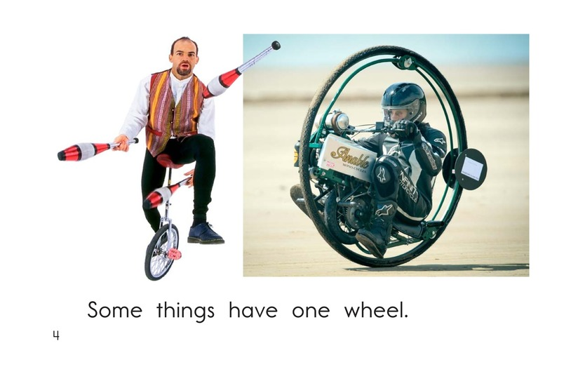 Book Preview For How Many Wheels? Page 4