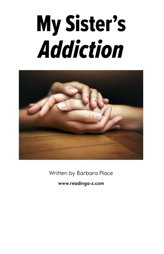 Book Preview For My Sister's Addiction Page 1