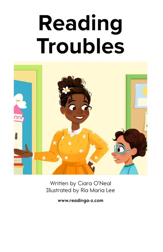Book Preview For Reading Troubles Page 1