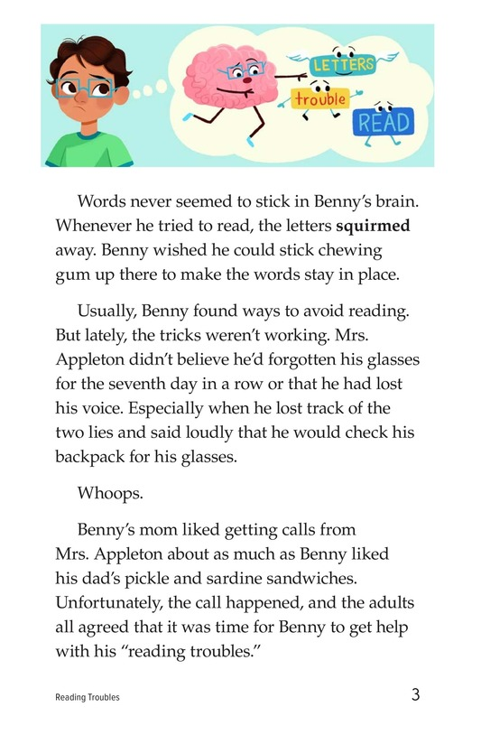 Book Preview For Reading Troubles Page 3