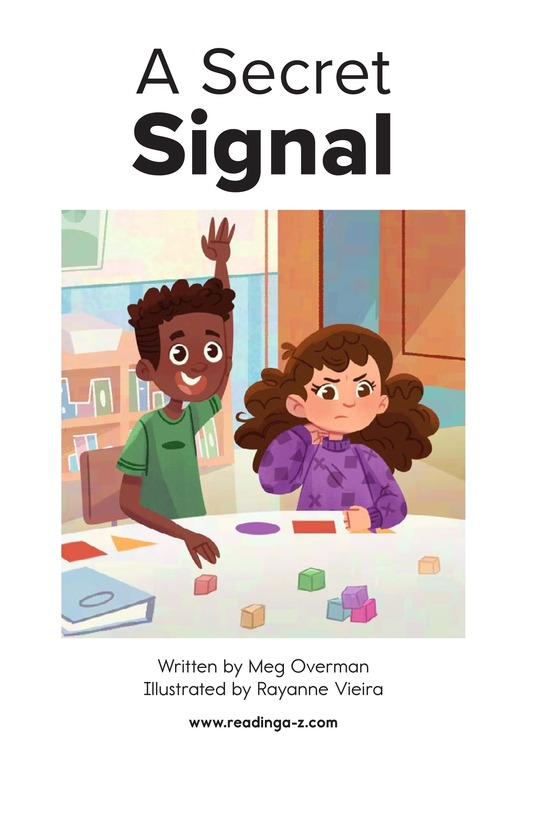 Book Preview For A Secret Signal Page 1