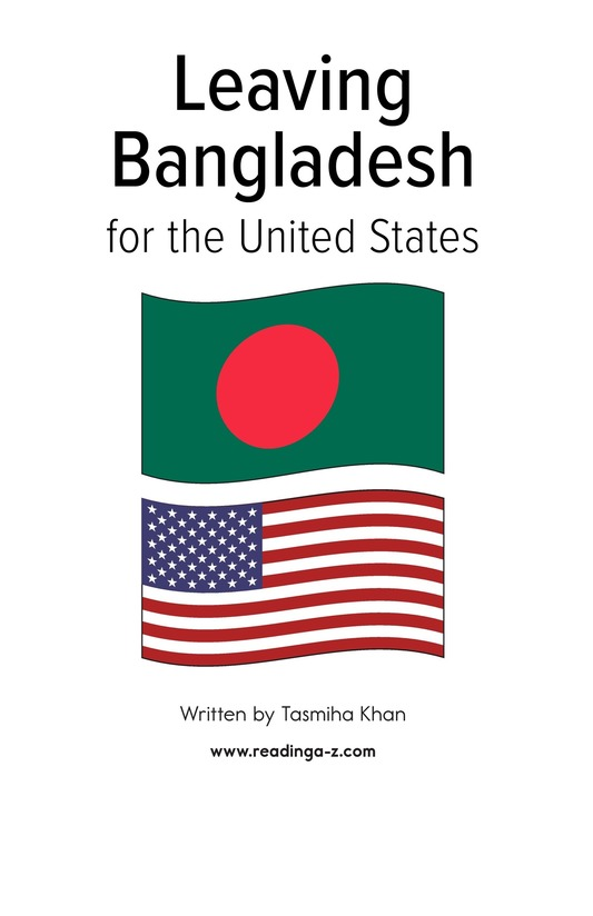 Book Preview For Leaving Bangladesh for the United States Page 1