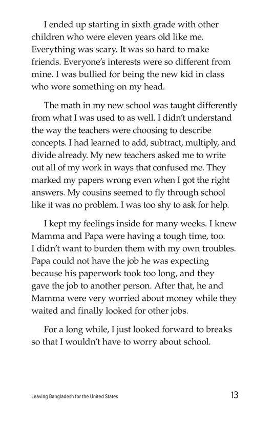 Book Preview For Leaving Bangladesh for the United States Page 13