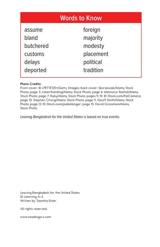 Book Preview For Leaving Bangladesh for the United States Page 2