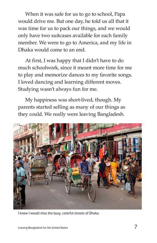 Book Preview For Leaving Bangladesh for the United States Page 7